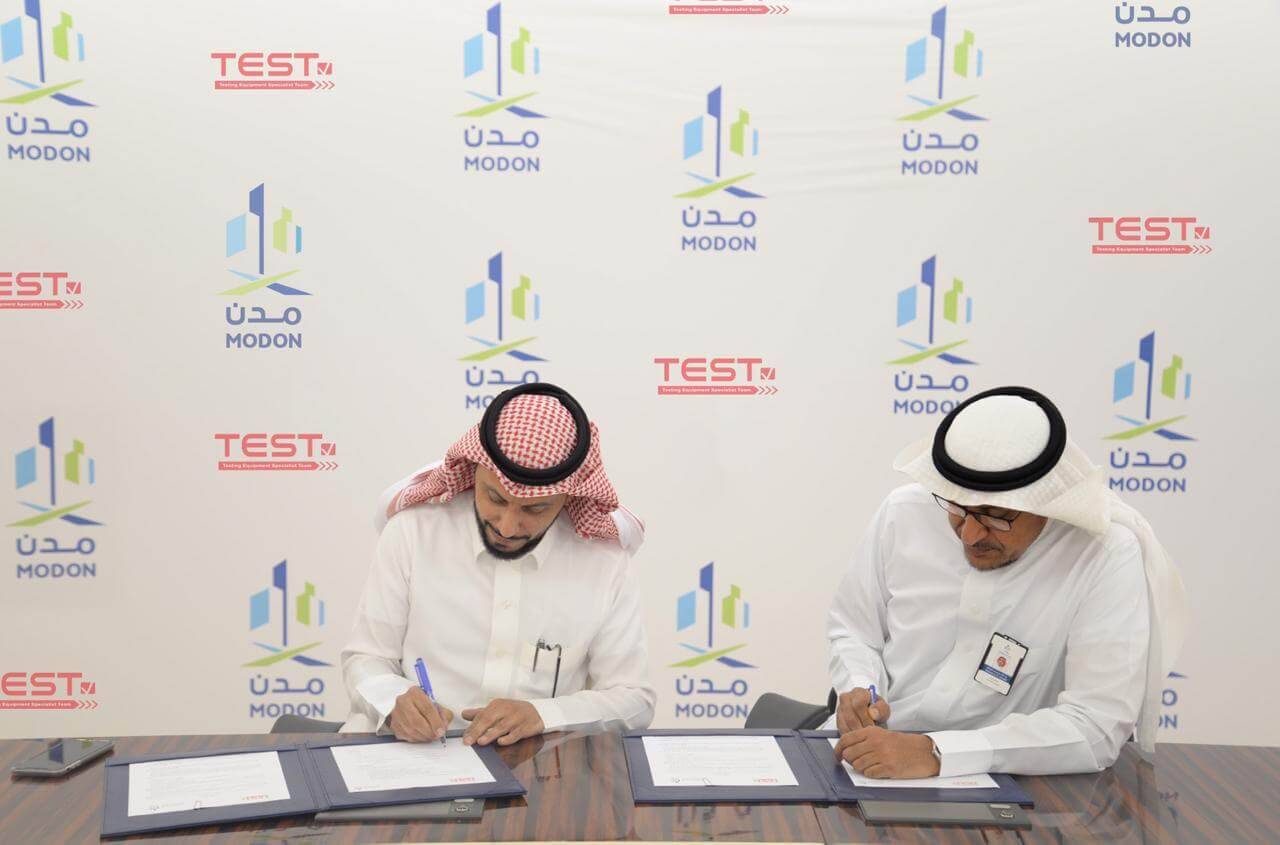 A memorandum of understanding (MoU) between MODON and TEST to improve safety in industrial cities
